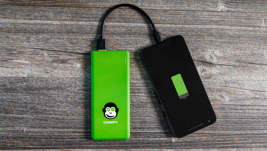 Leih-Powerbank mit Smartphone