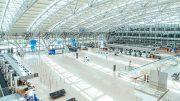 Leerer Flughafen Hamburg Terminal während des Corona-Lockdowns 2020