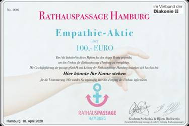 Die Förderaktion der Rathauspassage Hamburg