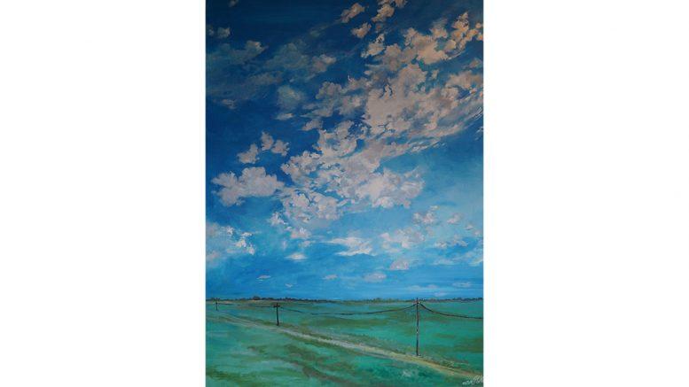 Himmel mit Landschaft Bild