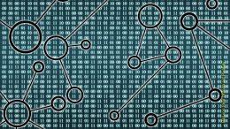 Symbolbild für Datenananalyse, Ziffern und Kreise und Linien