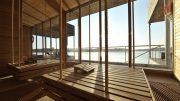 Die Seesauna der Fontane Therme mit Blick auf den Neuruppiner See