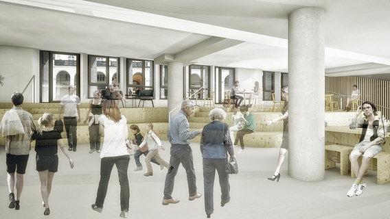 Architekturenwurf für die Rathauspassage Hamburg