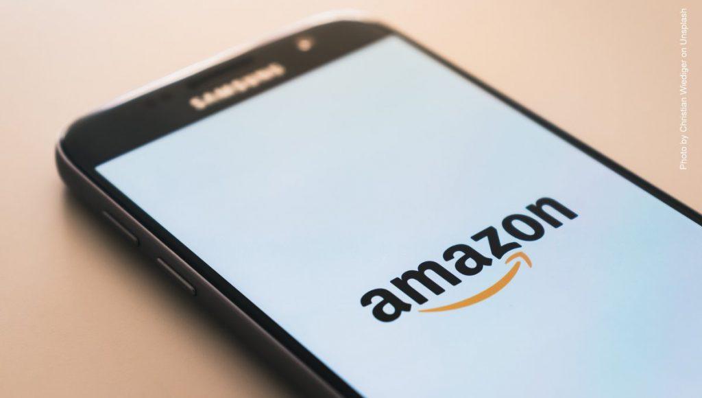 Amazon Loga auf dem Handy