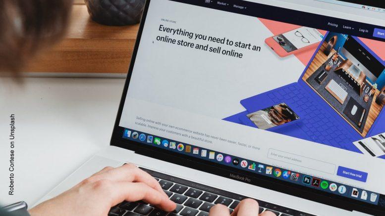 E-Commerce Bildschirm