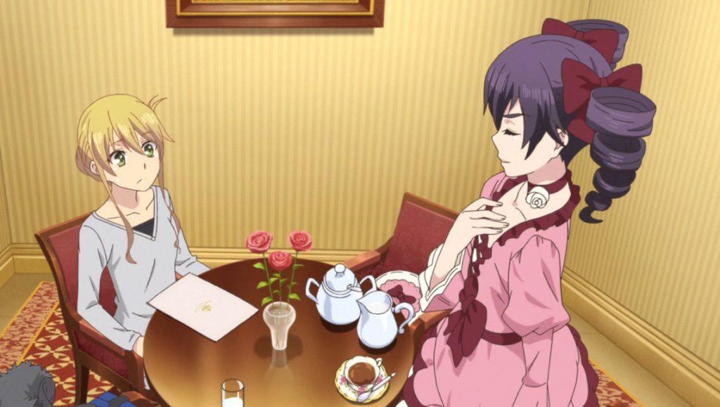 Anime: 2 Mädchen trinken Tee