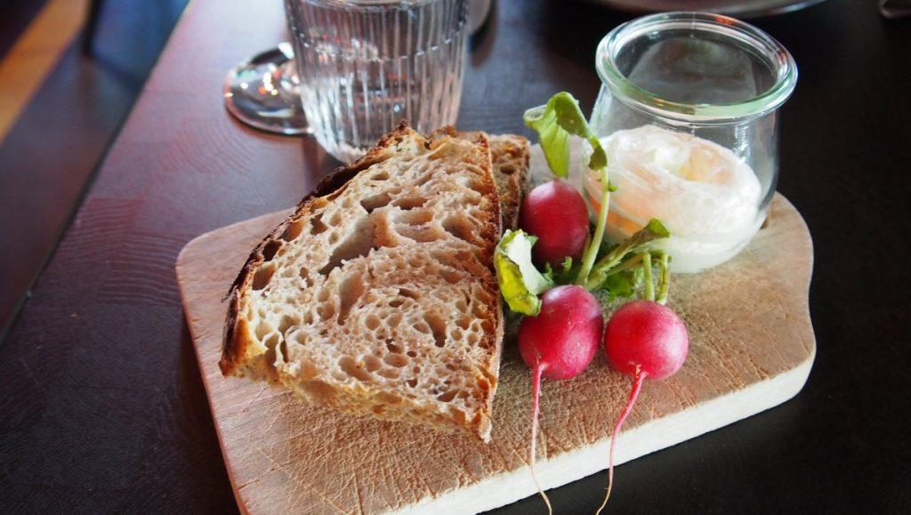 Vorspeise im Restaurant Heimat Brot