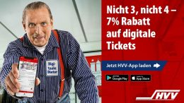 Das Hamburger Original Aal-Dieter macht Werbung für den HVV