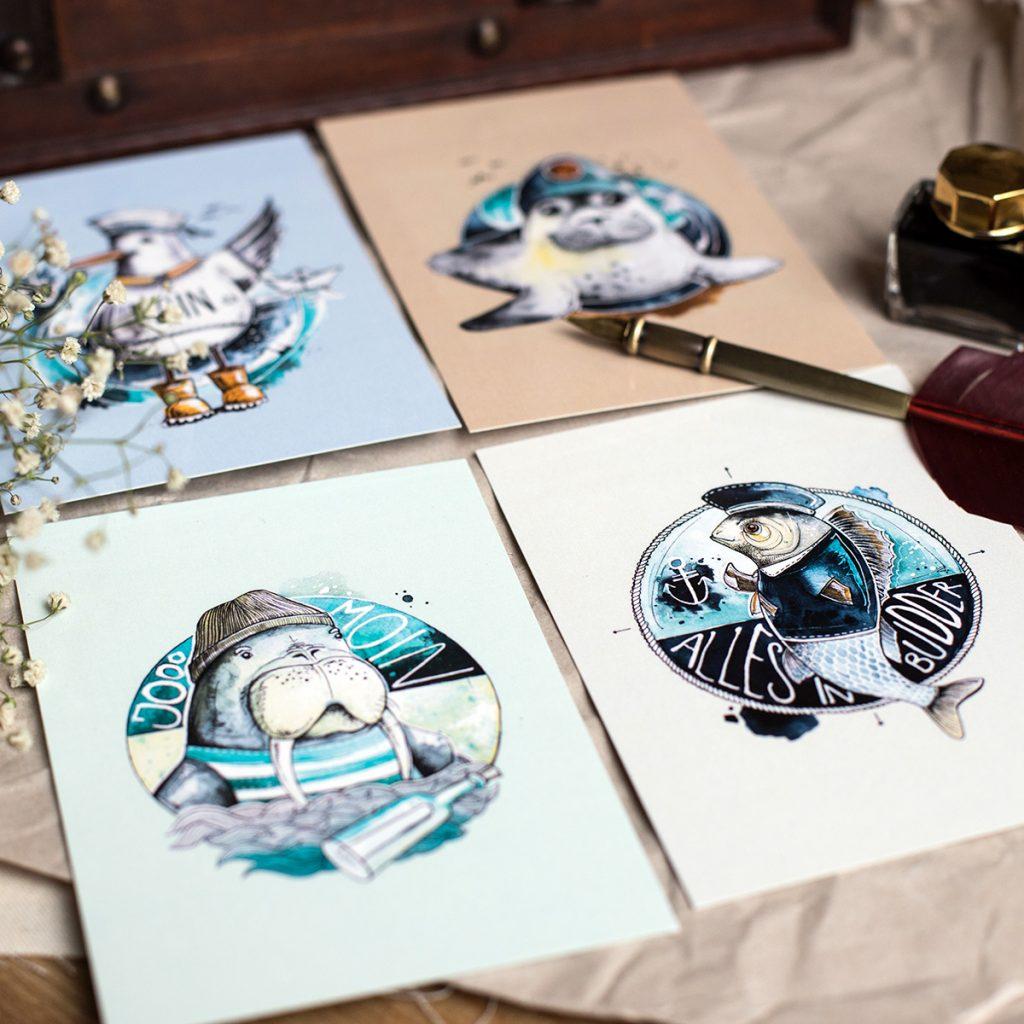 vier Bildmotive von Imke Hahn