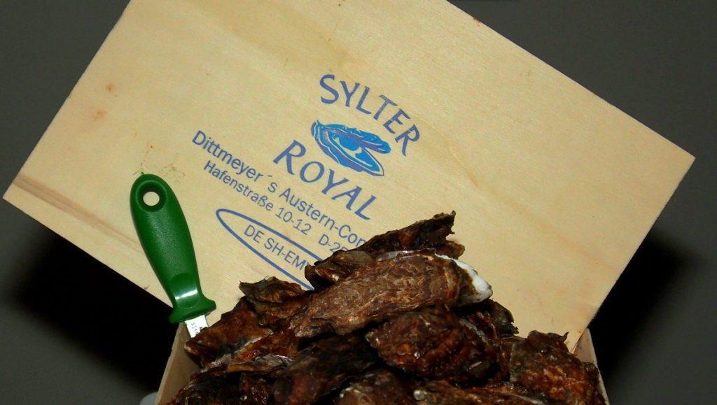 Sylter Royal Austern im Spankorb