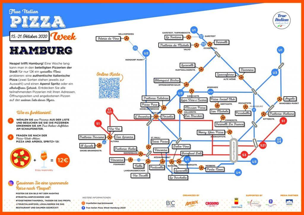 Alle True Italian Pizza Restaurants in hamburg im Fahrplandesign