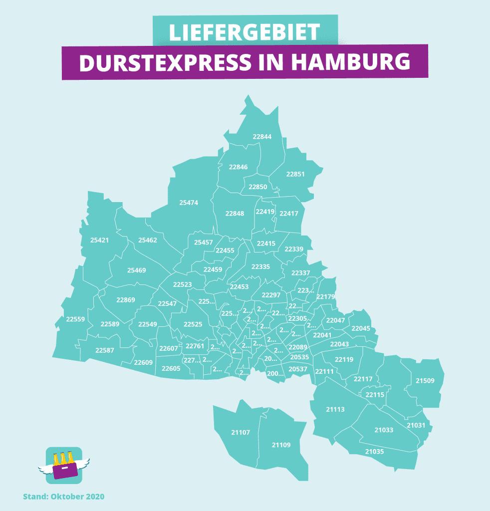 Lieferkarte von Durstexpress