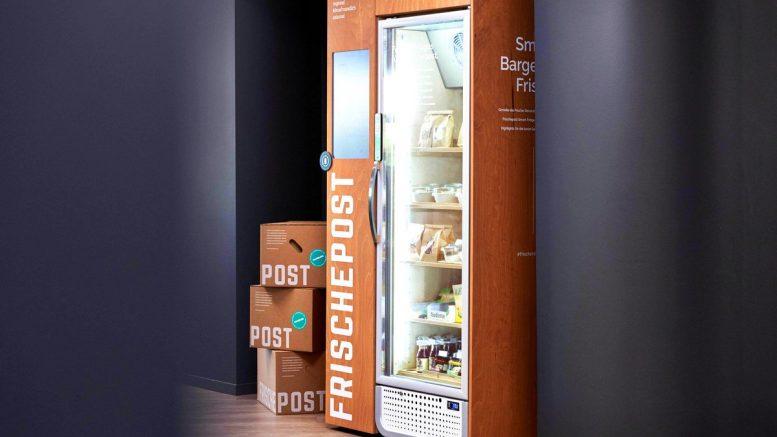 Frischpost Smart Fridge Kühlschrank im Office