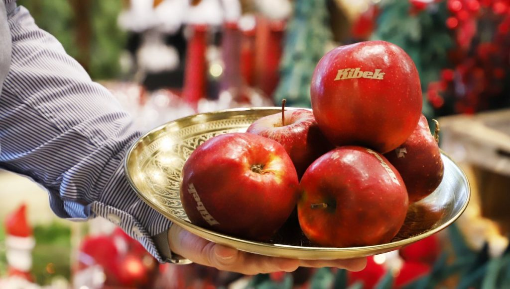 Apfel mit Kibek Logo