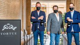 Die beiden Airdal Retail Co-Founder Maurice Sevecke. Marc Ciunis, Jan Martens