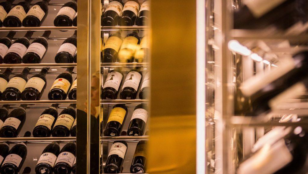 Weinlagerung im Restaurant Harlin Hamburg