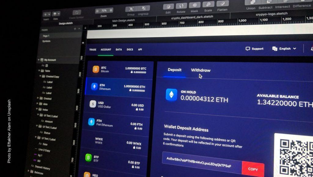 Bitcoin Bildschirm