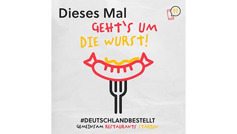 Logo der Aktion Deutschland bestellt mit Wurst