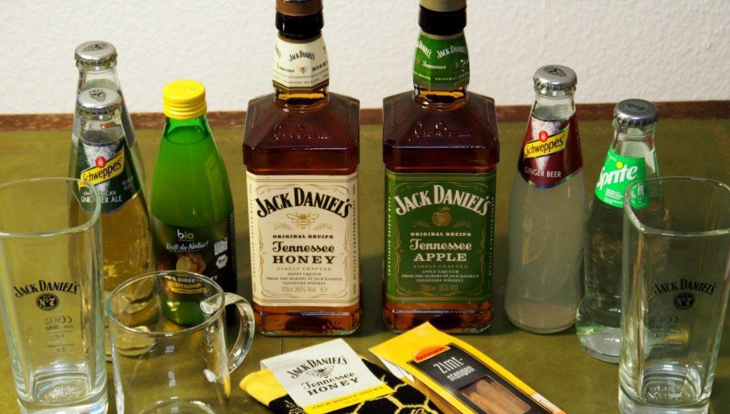 Tasting Package von Jack Daniel's gesamter Inhalt