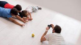 Kinder werden fotografiert