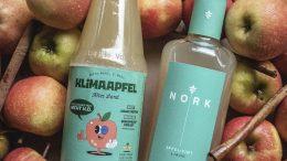 NORK Apfel-Zimt-Likör Moodfoto mit Äpfeln