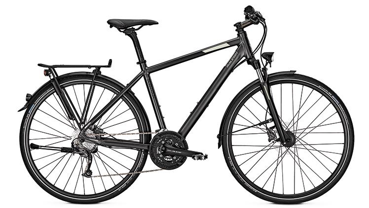 Ein schwarzes Trekking Bike von Raleigh