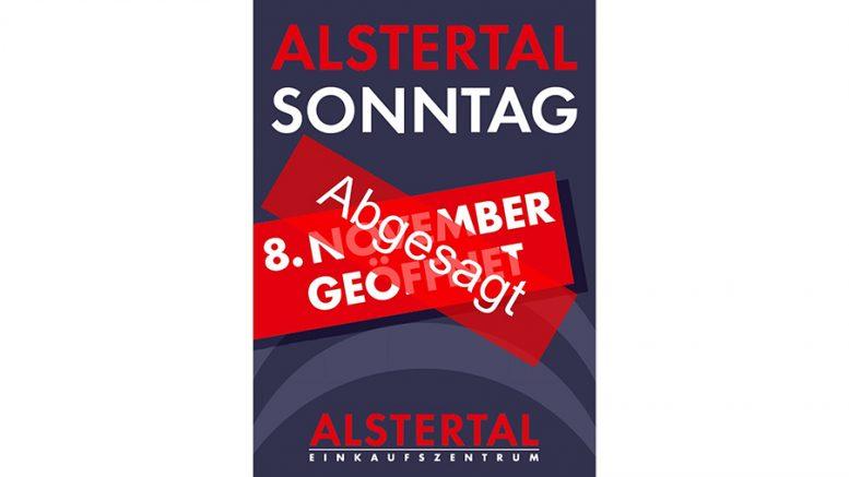 Absagemotiv AEZ verkaufsoffener Sonntag