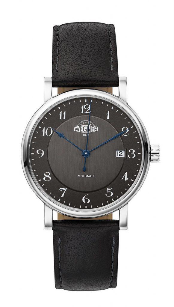 Eugen Wegner Phoenix Uhr schwarzes Zifferblattersteller