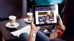 Tablett mit Digital Mall von der ECE