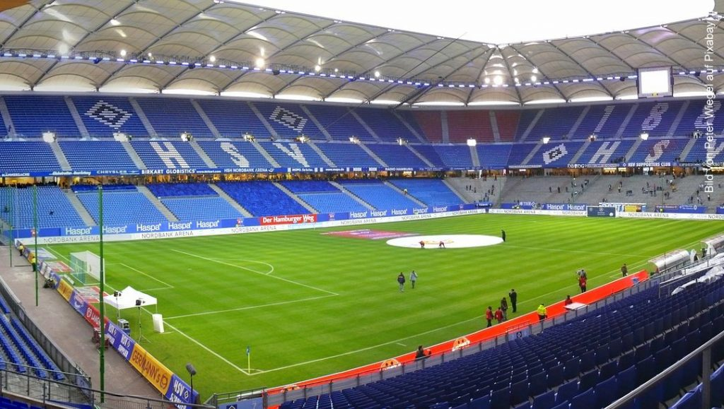 Blick ins Hamburger Volksparkstadion