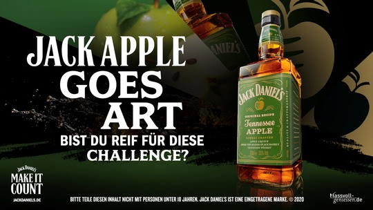 Werbemotiv Jack Apple goes Art