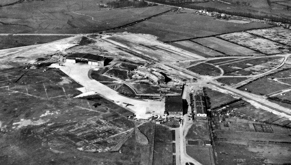Der Hamburger Flughafen 1928 aus der Luft