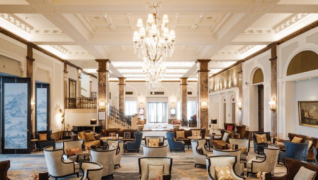 Blick in die renovierte Lobby des Lobby Hotel Atlantic