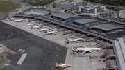 Luftbild vom Flughafen Hamburg