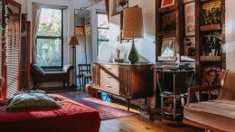 Wohnzimmer mit Vintage Möbeln