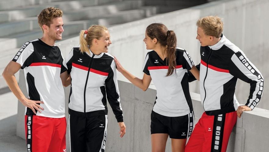 Vier Sportler im Erima Dress