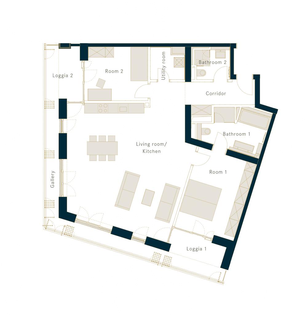 Wohnunggrundriss