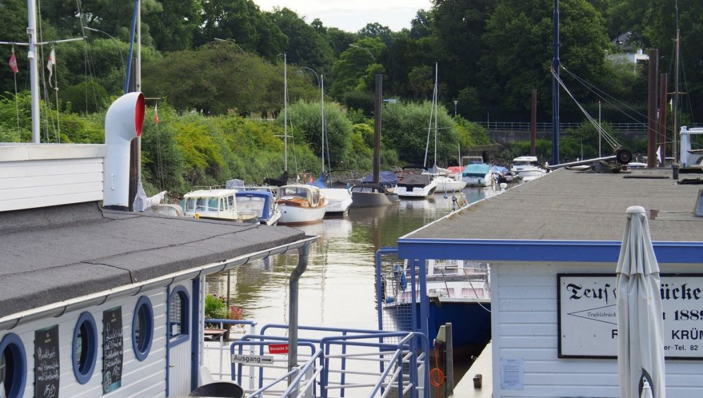Blick in den Teufelsbrücker Yachthafen