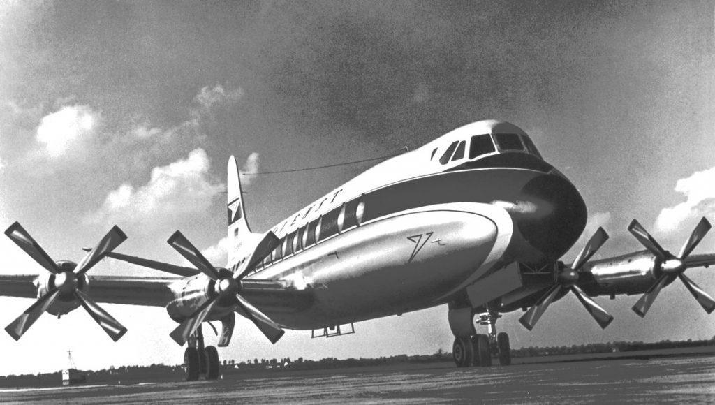 Vickers Viscount V-814  auf dem Rollfeld
