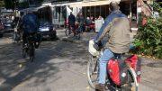 Drei Fahrradfahrer in Volksdorf