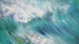 Seestück - brechende Wellen