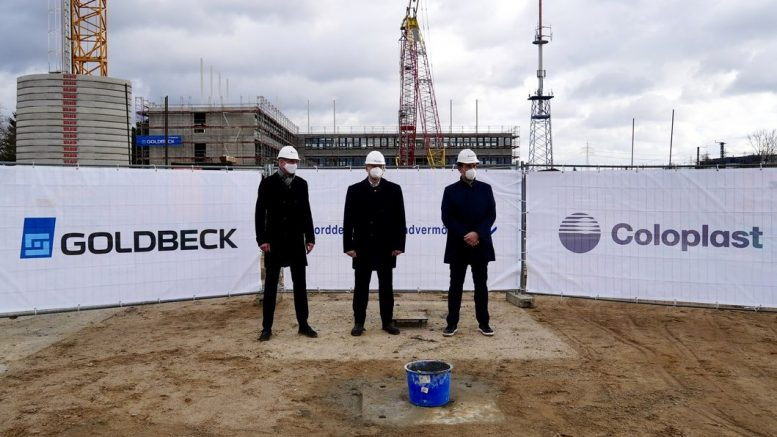 Grundsteinlegung in hamburg Wandsbek, drei Geschäftsführer