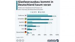 Glaserfaserausbau international Statistik