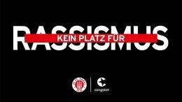 Aktionslogo gegen Rassismus - FC St. Pauli und Congstar