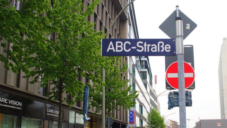 Straßenschild ABC-Straße in Hamburg