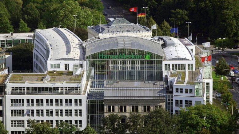 Hauptsitz der HanseMerkur in Hamburg - Luftaufnahme