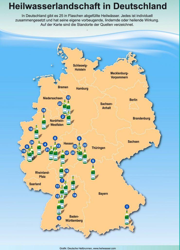 Karte Heilbrunnen in Deutschland