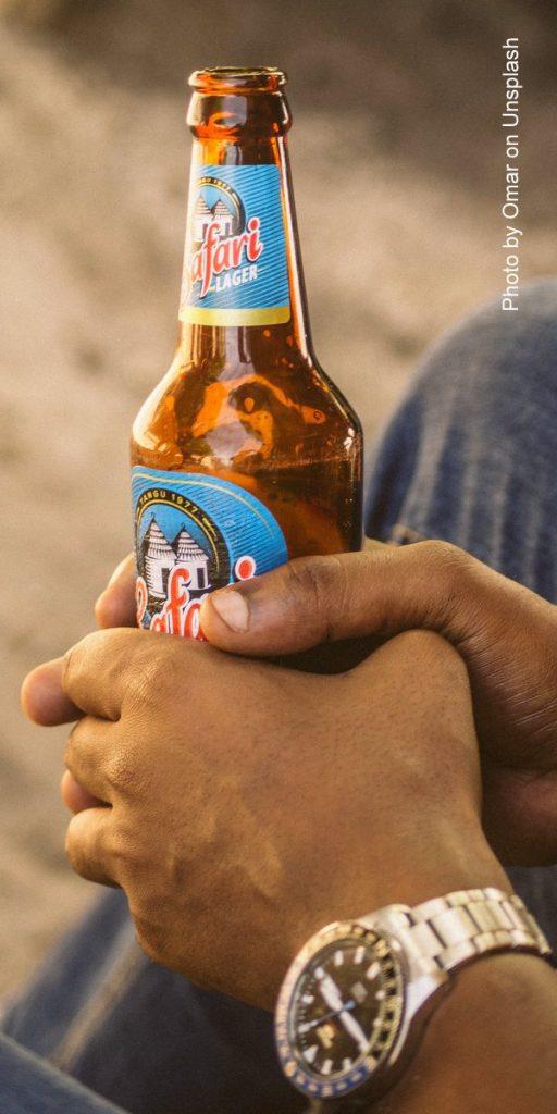 Abends ein Bier