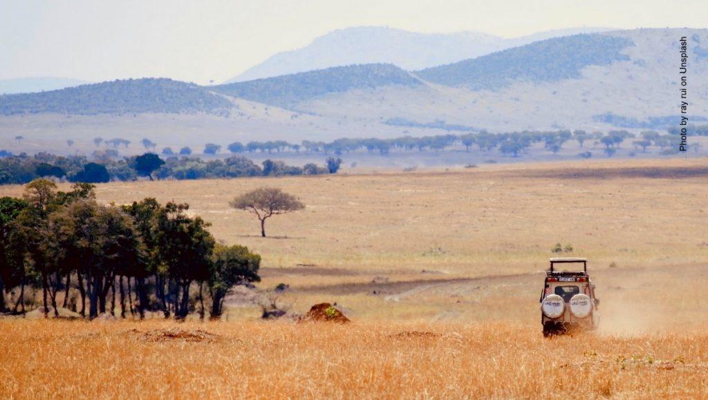 Geländewagen im Nationalpark
