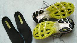Schuheinlagen von Laufschuhen
